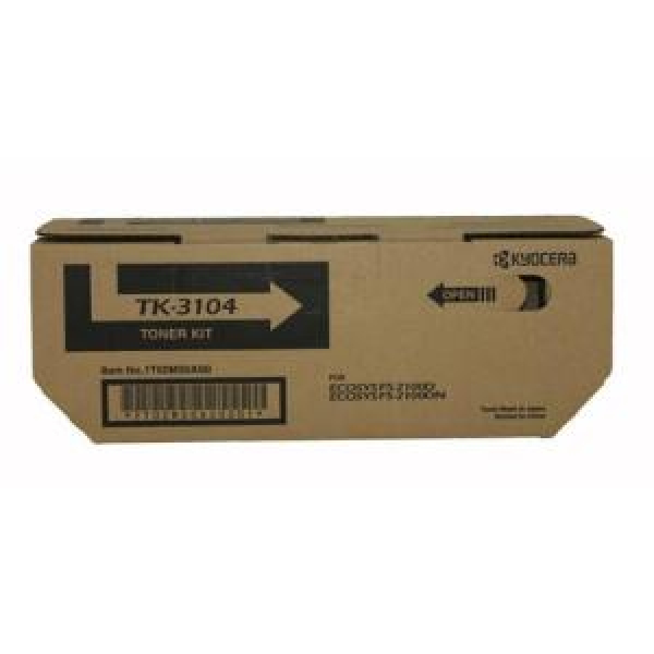 KYOCERA MITA  Black Toner Kit 12500 Page Yield TK-3104