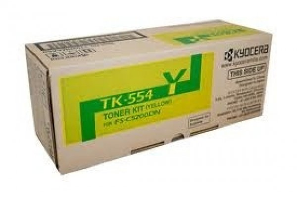 KYOCERA MITA Yellow Toner Kit For Fs-c5200dn 6k TK-554Y