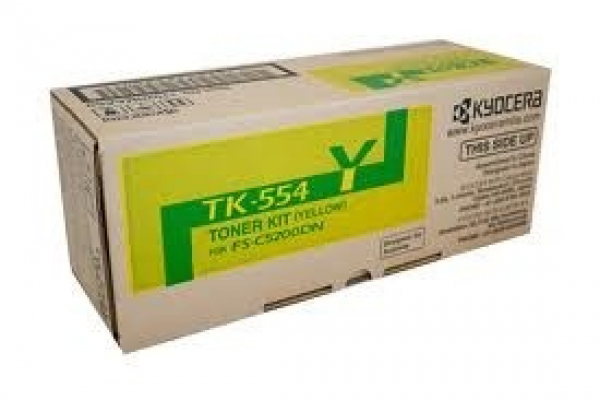 KYOCERA MITA Yellow Toner Kit For Fs-c5200dn 6k TK-554Y