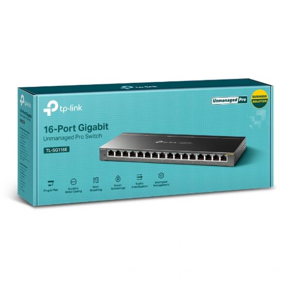 Tp-link   16-port Gigabit Unmanaged Pro Switch ( Tl-sg116e )