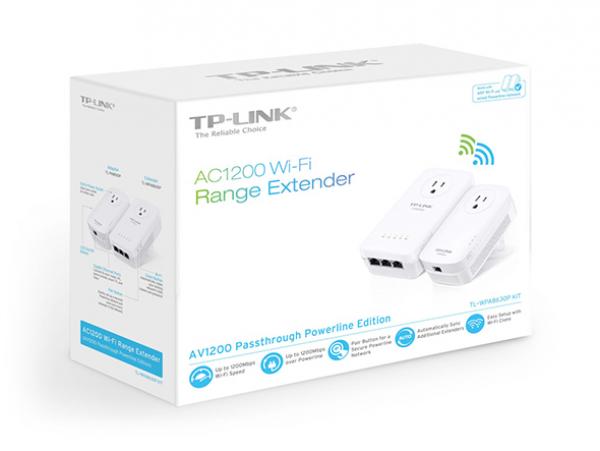 Tp-link AV1300 Gigabit Pass Through Powerline 3yr Wty (Tl-WPA8630P)