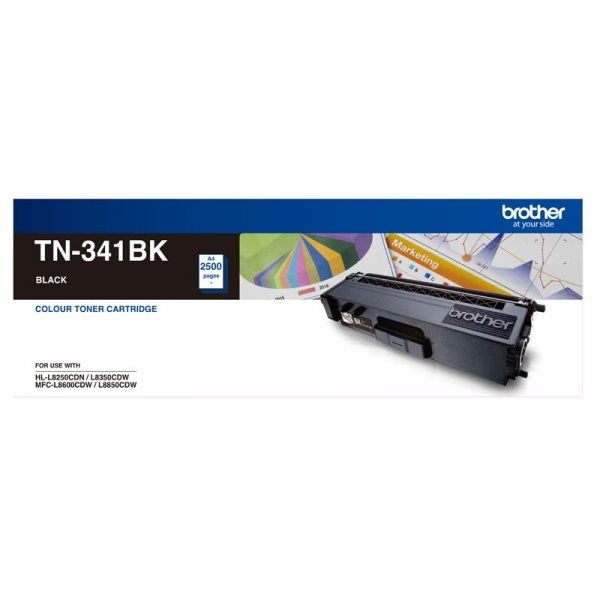 BROTHER Standard Yield Black Toner To Suit TN--341BK