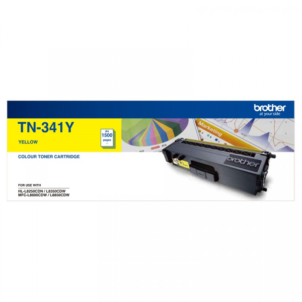 BROTHER Standard Yield Yellow Toner To Suit TN--341Y
