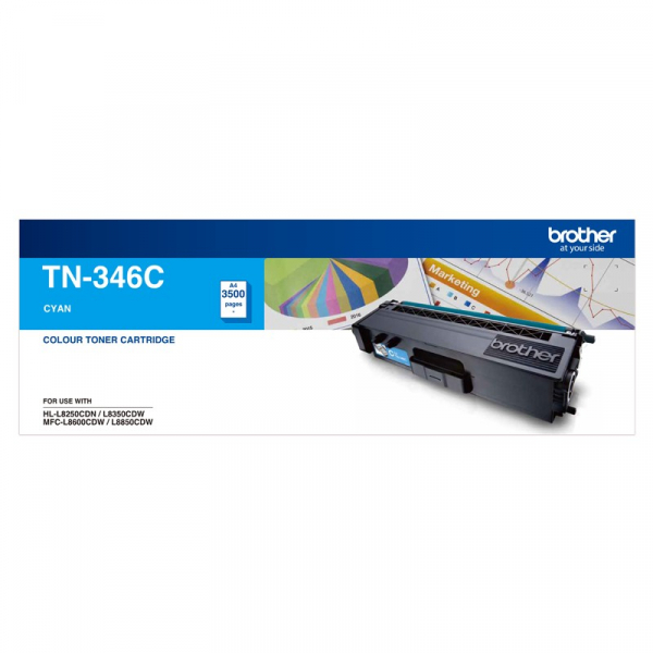 BROTHER High Yield Cyan Toner To Suit TN--346C