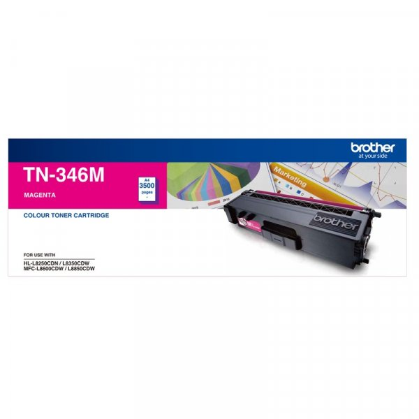 BROTHER High Yield Magenta Toner To Suit TN--346M