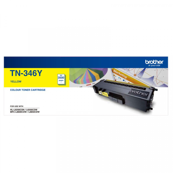 BROTHER High Yield Yellow Toner To Suit TN--346Y