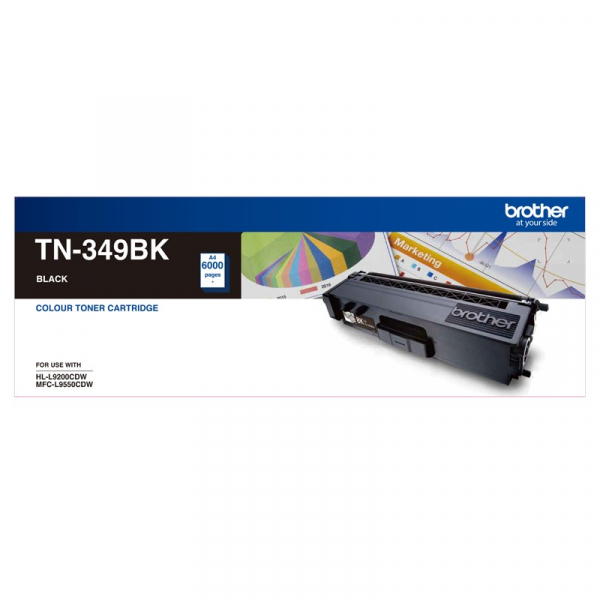 BROTHER Super High Yield Black Toner To Suit TN--349BK