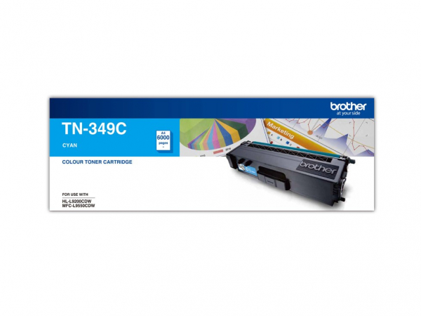 BROTHER Super High Yield Cyan Toner To Suit TN--349C
