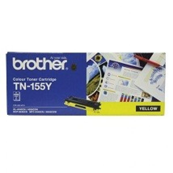 BROTHER Tn155 Yellow Toner 4000 Page Yield For TN-155Y