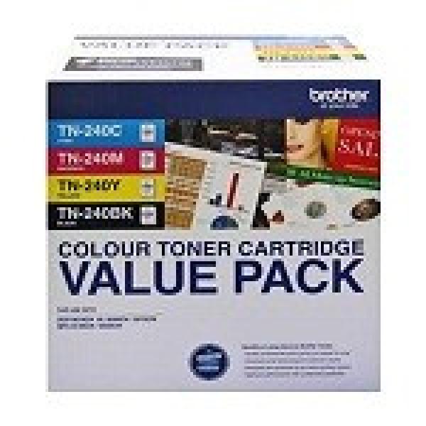 BROTHER Tn240 Cymk Toner Pack 2000 + 3x 1400 TN-240CL4PK