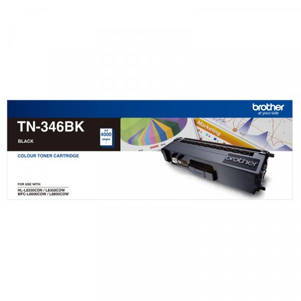 BROTHER High Yield Blk Toner 4k To Suit TN-346BK