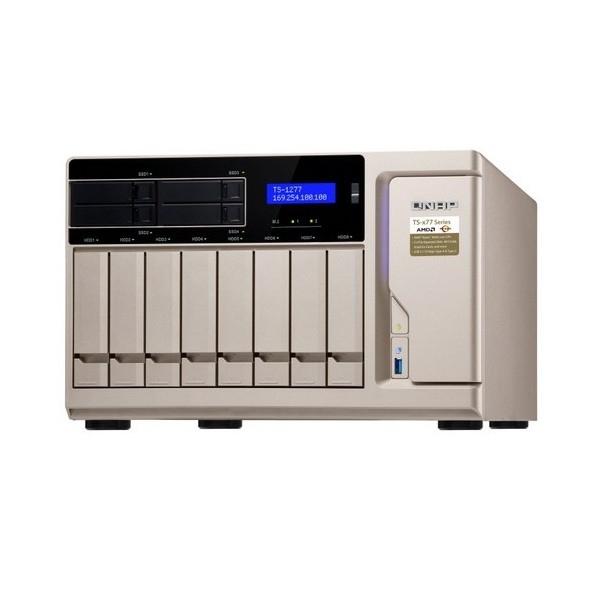 QNAP 12 Bay Nas 8G Bryzen 5GBE(4) USB-CTWR2YR TS-1277-1600-8G