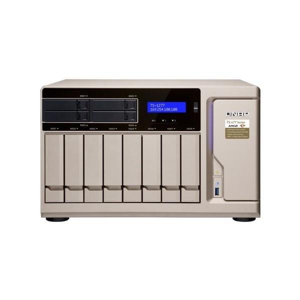 QNAP 12 Bay Nas 16G Bryzen 7GBE(4) USB-CTWR2YR TS-1277-1700-16G