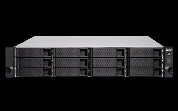 Qnap -8G12Bay Nas(no Disk)Ryzen 58GB 10GBE (TS-1277XU-RP-2600)
