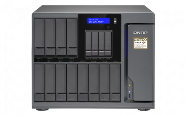 Qnap 16 Bay Nas (No Disk) 4G Rryzen3-1200GBE 4 Network Storage (TS-1677X-1200-4G)