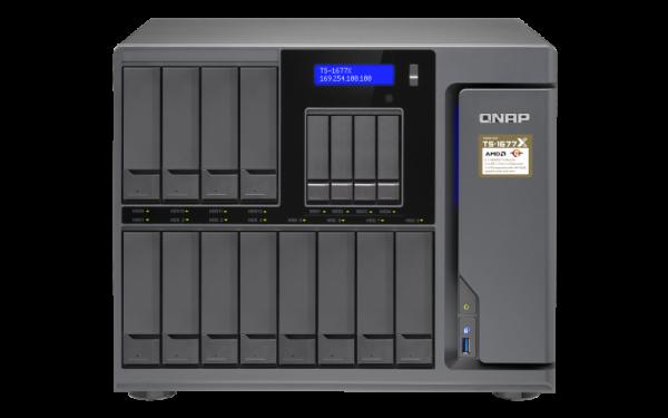 Qnap 16 Bay Nas (No Disk) 64G Rryzen7-1700GBE Network Storage (TS-1677X-1700-64G)