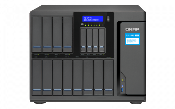Qnap Nas Tower Xeon 6 Core 2.2ghz 16x Sata6 Hdd Network Storage (TS-1685-D1531-16G)
