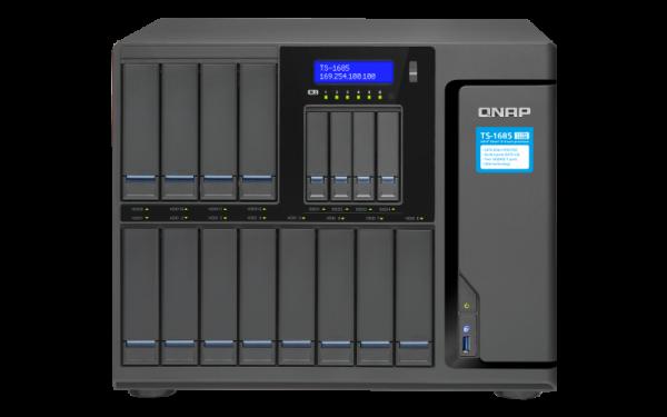 Qnap Nas12+4 Bay (No Disk) Xeon D6C USB(3)GBE Network Storage (TS-1685-D1531-32G)
