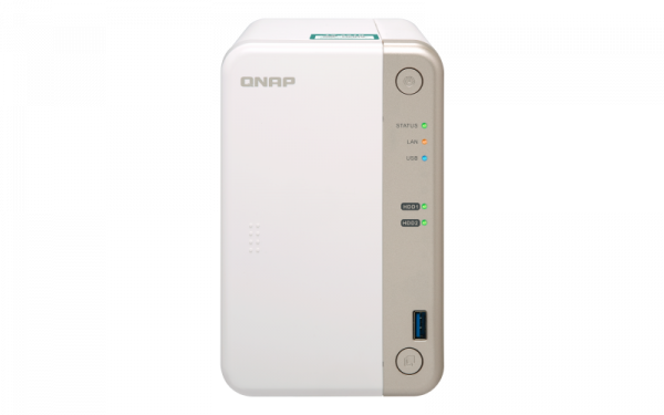 Qnap Nas 2Bay (No Disk) Cel-J3355 4GB USB Gbe(1) Network Storage (TS-251B-4G)