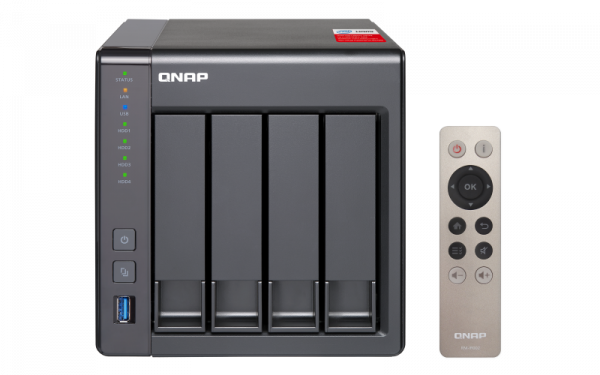 Qnap Ts451+ Nas Tower quad-core 2.0 GHz Processor (burst up to 2.42 GHz) Network Storage (TS-451+-8G)