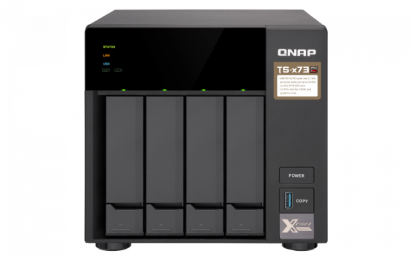 Qnap 4 Bay Nas (No Disk)M.2 SSD Slot(2) 4GBRX-421NDG Network Storage (TS-473-4G)