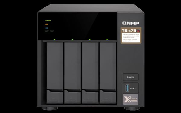 Qnap 4 Bay Nas (No Disk)M.2 SSD Slot(2) 8GBRX-421NDG Network Storage (TS-473-8G)