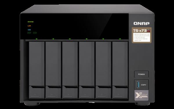 Qnap 6 Bay Nas (No Disk)M.2 SSD Slot (2) 8GBRX-421NDG Network Storage (TS-673-8G)