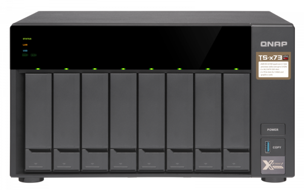 Qnap 8 Bay Nas (no Disk)M.2 SSD Slot(2)8GBRX-421NDG Network Storage (TS-873-8G)