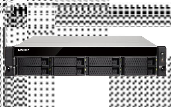 Qnap 8bay Nas(No Disk)4GBAMD QC-2.1GHZ 10GBE SFP+(2 Network Storage (TS-873U-4G)
