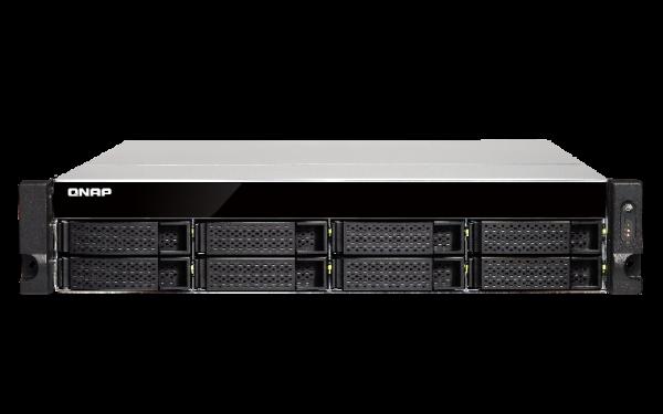 Qnap 8 Bay Quad-Core NAS with Dual 10GBE SFP+ Network Storage (TS-873U-RP-8G)