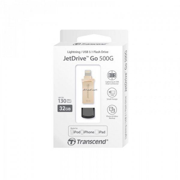 Transcend 32GB Jetdrive Go 500 Gold Plating Desktop Drives (TS32GJDG500G)