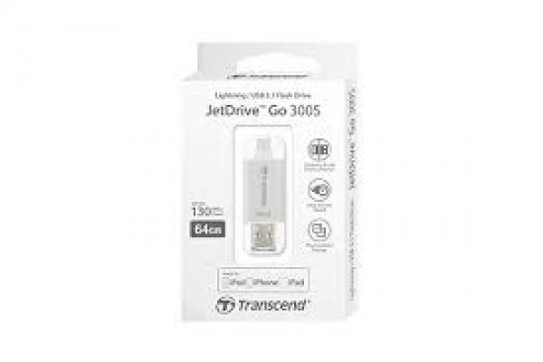 Transcend 64GB Desktop Drives Iphone Jetdrive Go 300 Silver (TS64GJDG300S)