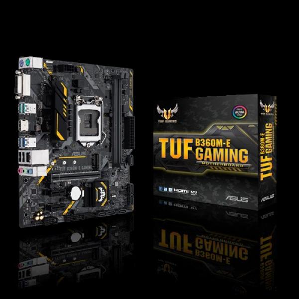 Asus G8wd LGA 1151 MATX Gaming Motherboard With Aura Sync RGB LED Lighting (TUF B360m-E Gaming)