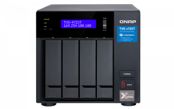 Qnap TVS472XT Nas Tower Dual Core Amd 3.1ghz Processor 4x Sata6 Network Storage (TVS-472XT-PT-4G)