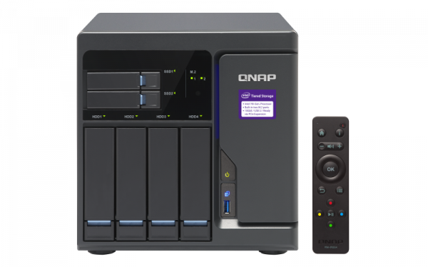 Qnap Tvs682 Nas Tower Quad Core 3.7 Ghz Intel I3 Processor 6 X SATA Network Storage (TVS-682-i3-8G)