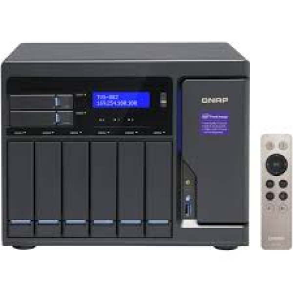 Qnap NAS 6+2+2 X M.2 SLOT(DISKLESS) 8GB I3-6100 Network Storage (TVS-882-I3-8G)
