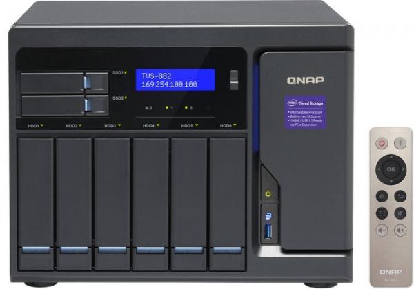 Qnap 8-Bay TurboNAS SATA 6G Core™ i5-6500 3.6 Network Storage (TVS-882-I5-16G)