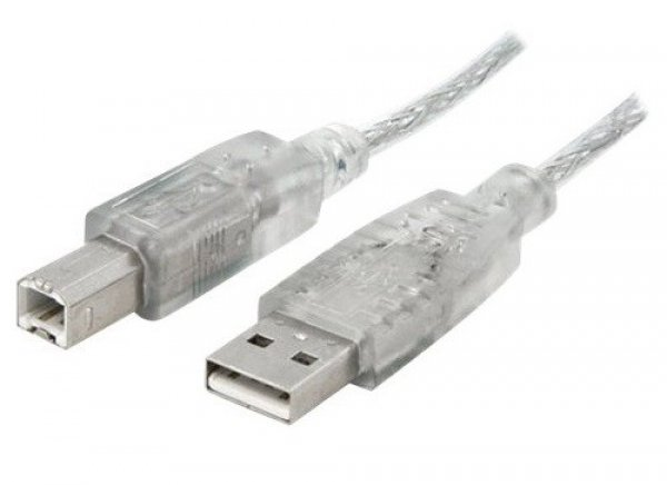 8WARE Usb 2.0 Cable Type A To B M/m Transparent UC-2001AB