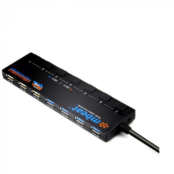 MBEAT 4 Port Usb 3.0 Plus 3 Port Usb 2.0 Hub USB-M43HUB