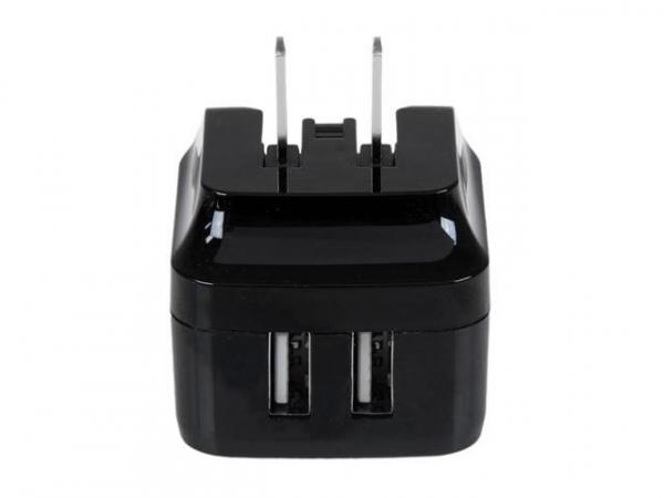 STARTECH Dual Port USB Wall Charger - International Travel 17W/3.4A (USB2PACBK)