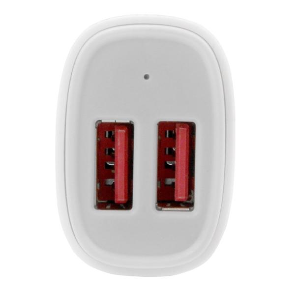 STARTECH Dual Port USB Car Charger - 24W/4.8A White (USB2PCARWHS)