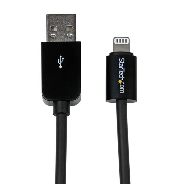 STARTECH 2m (6ft) Long Black Apple 8-pin USBLT2MB