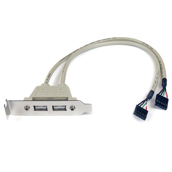 STARTECH 2 Port Usb A Female Low Profile Slot USBPLATELP