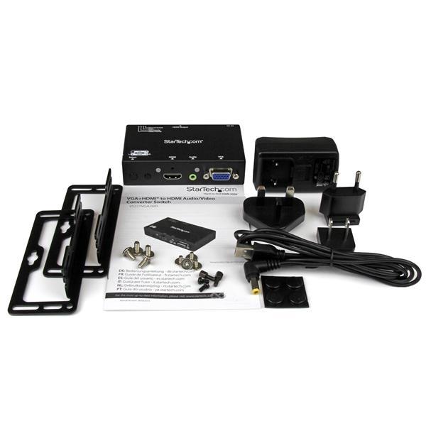 STARTECH 2x1 Hdmi + Vga To Hdmi Converter Switch VS221VGA2HD