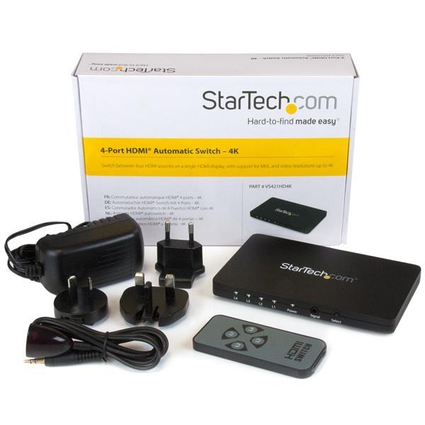 STARTECH .com 4-port Hdmi Automatic Video Switch VS421HD4K
