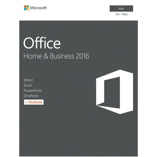 MICROSOFT Office Mac Home Business 2016 Retail W6F-00921