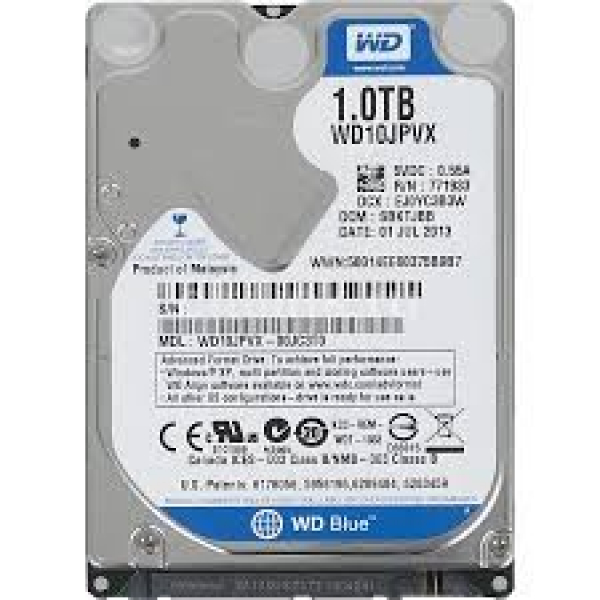 Western Digital WD Blue Internal 2.5 Mobile Desktop Drives (WD10JPVX)