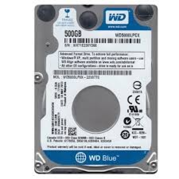 Western Digital WD Blue Internal 2.5 Mobile Desktop Drives (WD5000LPCX)