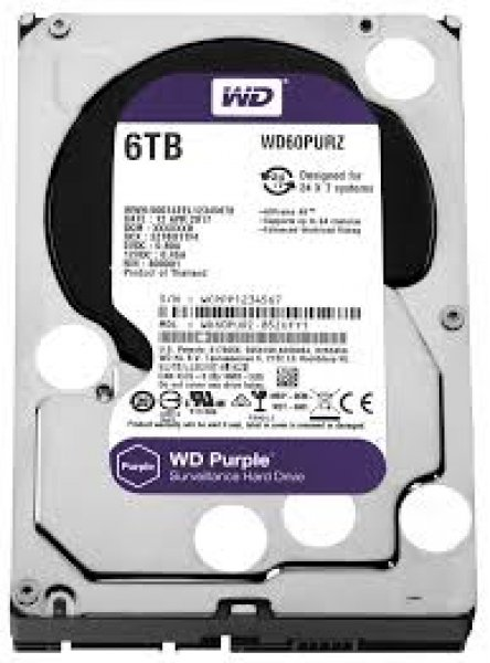 Western Digital 3.5 WD Purple 6TB Intellipower Desktop Drives (WD60PURZ)