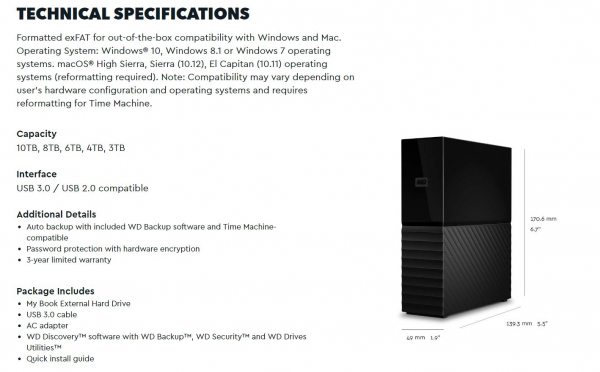 Western Digital Wd My Book 10tb 3.5' Desktop Raid External Hard Drive Usb 3. ( Wdbbgb0100hbk-aesn )